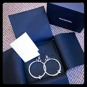 Chanel Studded Large Hooped Earrings
